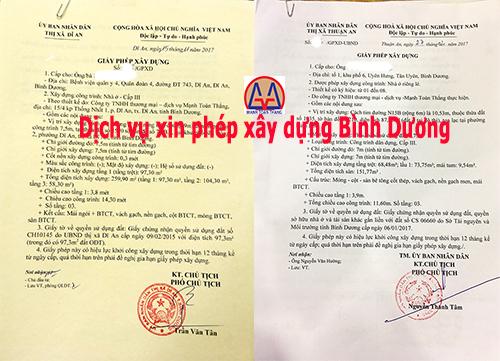 Thủ tục xin giấy phép xây dựng tại Thủ Dầu 1, Bình Dương